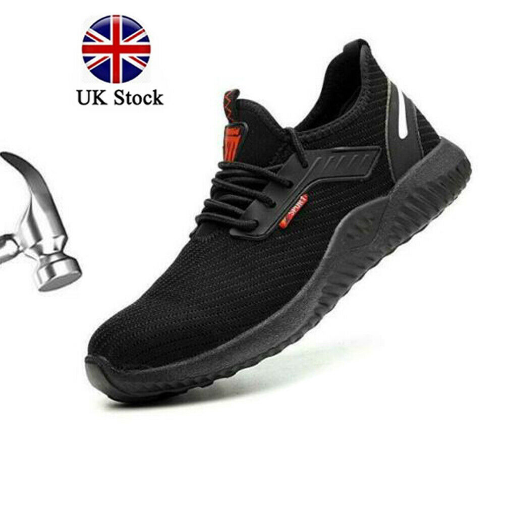 Mens Steel Toe Safety Shoes Trainers Work Boots Sports Hiking Sneakers UK 3-11