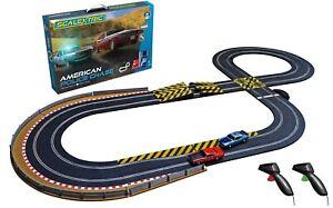 Scalextric-Set-C1405-American-policia-Chase-Tamano-Completo-Conjunto-De-Coche-pista-Stunt