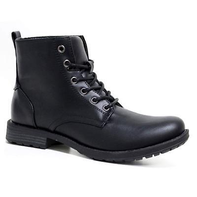 Trabajo inteligente de combate para hombre acordonadas al Tobillo Militar Ejército Botas Motorista Vaquero Zapatos Talla