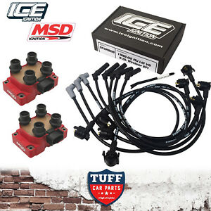 AU-Ford-Falcon-5l-302-V8-9mm-ICE-Ignition-Leads-amp-MSD-8241-Performance-Coil-Pack