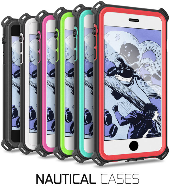 For iPhone 5 5s SE 6 6s 7 8 Plus Case | Ghostek NAUTICAL Rugged Waterproof Cover
