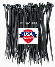 100 Usa Made Tough Ties 4 Inch 18lb Nylon Tie Wraps Wire Cable Zip Ties Black