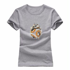 Star Wars The Force Awakens BB-8 Resistance Droid Tee Womens Junior Girl T-Shirt