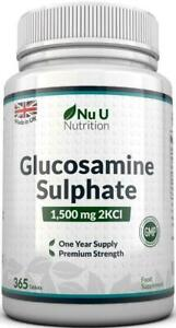 Sulfato-de-glucosamina-1500-mg-2KCl-365-comprimidos-1-ano-de-suministro-Alta-Resistencia