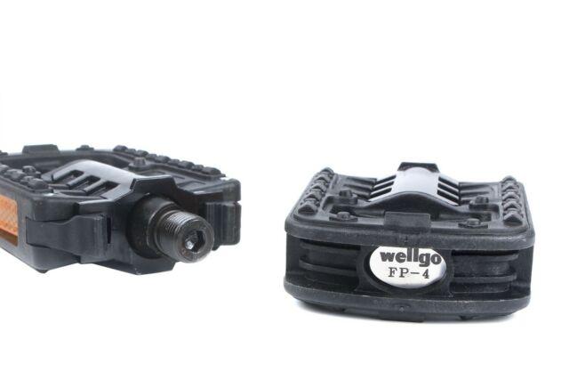 "Wellgo MG-3 9//16/"" Magnesium MTB BMX Bike Platform Pedal Deep Grey"