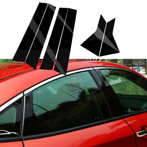 Glossly Black Door Window Pillar Posts Cover Trim For Honda Civic 10th 2016-2019
