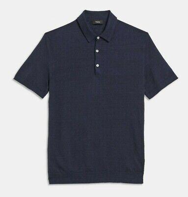 Theory Men/'s Eclipse Navy Colona Davies Short Sleeve Polo Shirt $195