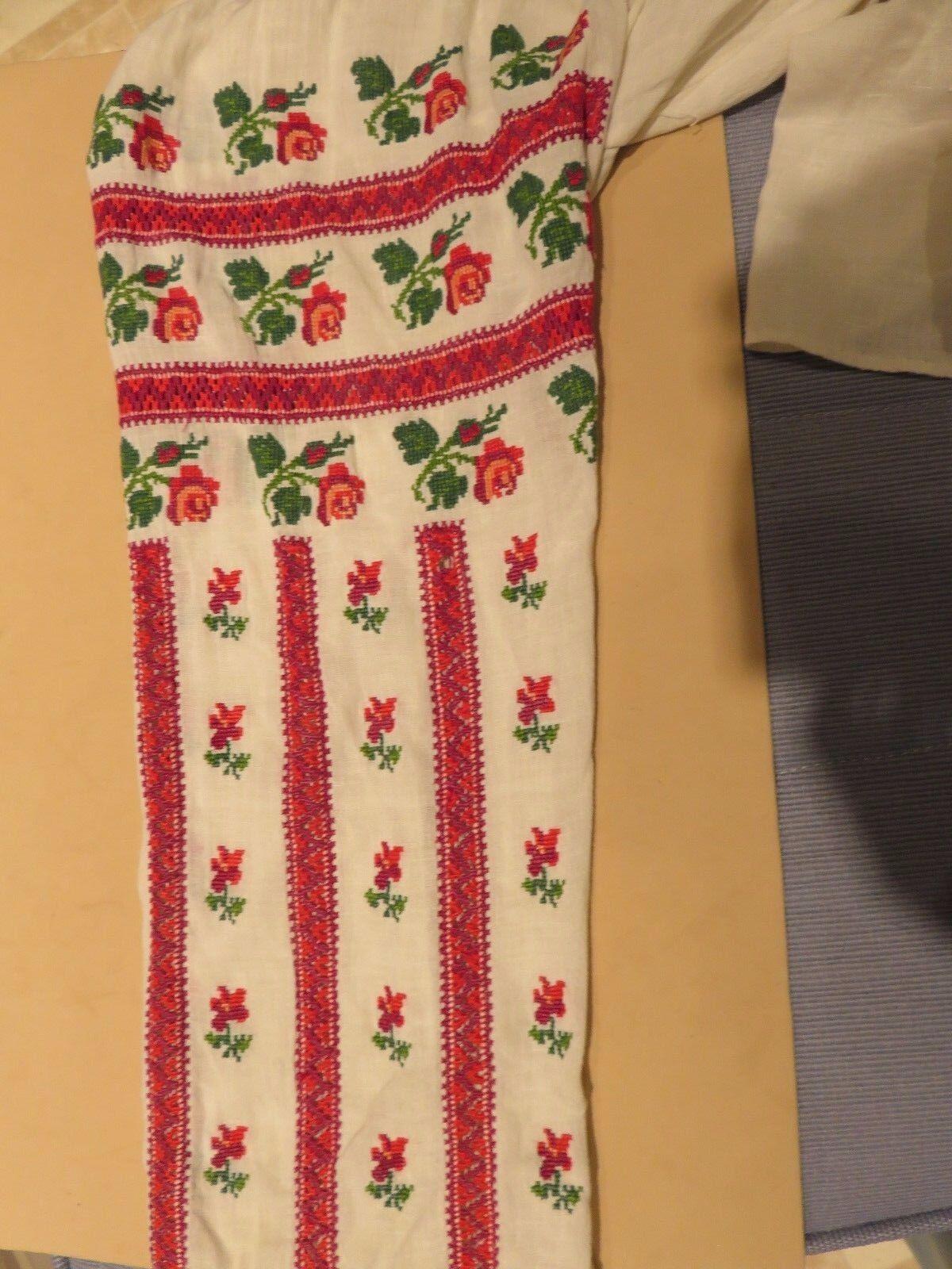 NM Antique  Ukrainian or Romanian  Folk Hand Embr… - image 5