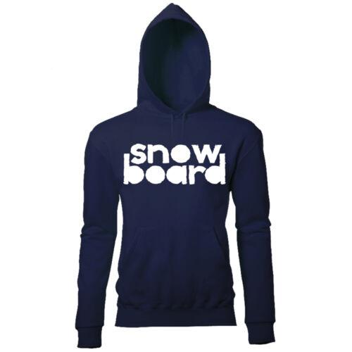 LARGE SNOWBOARD PRINT WOMENS WINTER SKI SNOWBOARD SEASON SLOGAN PRINTED HOODIE