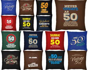 Deko 50 Geburtstag Geschenk 50 Geburtstag Couchkissen Kissen
