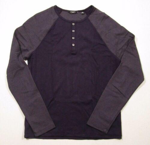 Saks Fifth Avenue Men/'s Modern Two-Toned Raglan Sleeve Henley