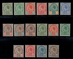 1899-1904-Thailand-Siam-Stamp-3rd-Issue-Complete-Sc-75-89-include-Small-034-034-Mint