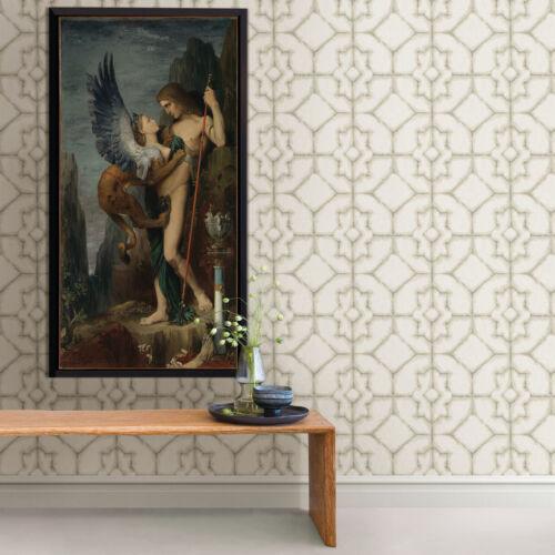 FD25532 Fine Décor Natural /& Beige Hazy Geometric Style Feature Wallpaper