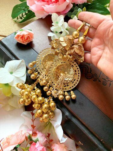 1 par oro indio más reciente Cluster grano largo nupcial latkan Sari Blusa duppata