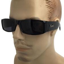 Bold Thick Cholo Gangster Biker Sunglasses Dark Lenses OG LOC Lowrider Black