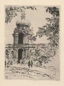 Original-Radierung-1921-Dresden-Walter-Zeising