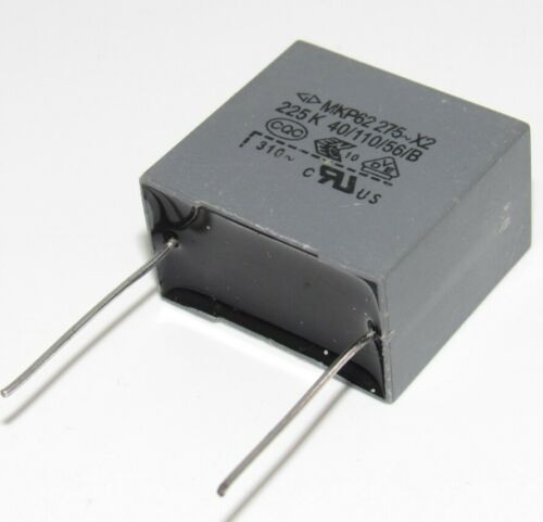 2pcs X2 305VAC 225M 2.2UF 275V Polypropylene Film Capacitor P=22.5mm