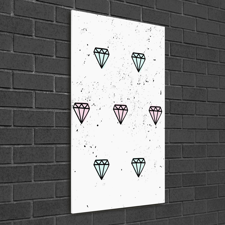 - Muro ARTE Immagine pressione rigida-VETRO verdeICALE 50x100 Diamanti