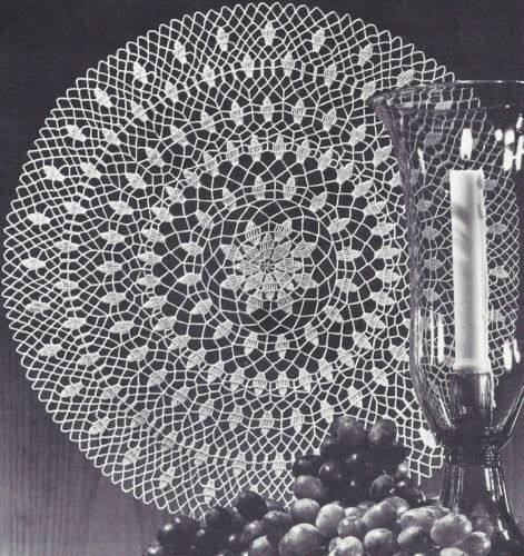 Vintage Crochet PATTERN to make Doily Centerpiece Mat Queen Anne/'s Lace Design