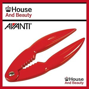 NEW-Avanti-Lobster-amp-Crab-Cracker-Red-Seafood-Shell-Shellfish-Crustacean-Opener