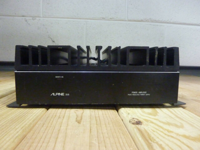 vintage alpine 3518 car stereo power amplifier, pulse regulated power supply