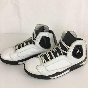 ccc6486cf728df Nike Air Jordan Flight Shoes 551820-102 Laces Black White Men Size 8 ...