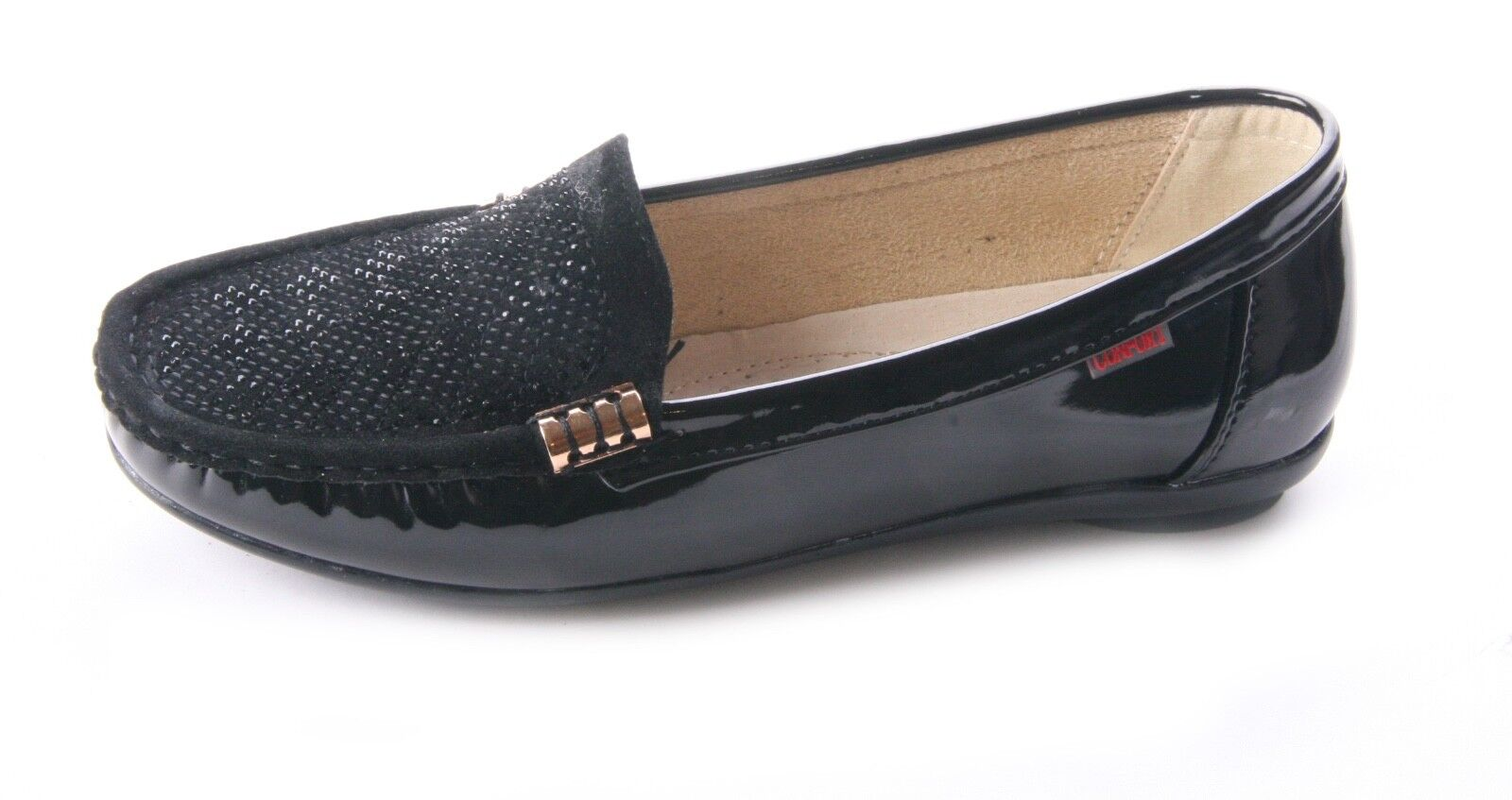 WOMENS LADIES COMFORT LOAFERS WITH DIAMOND TRIM WORK SECRETARY SHOES SIZE 3 -8
