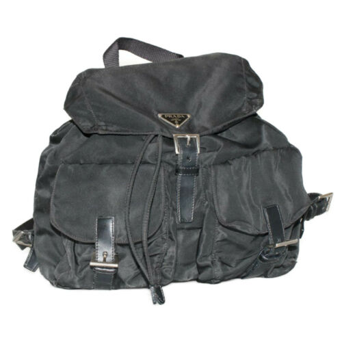 PRADA Nylon Backpack Black Auth ar832