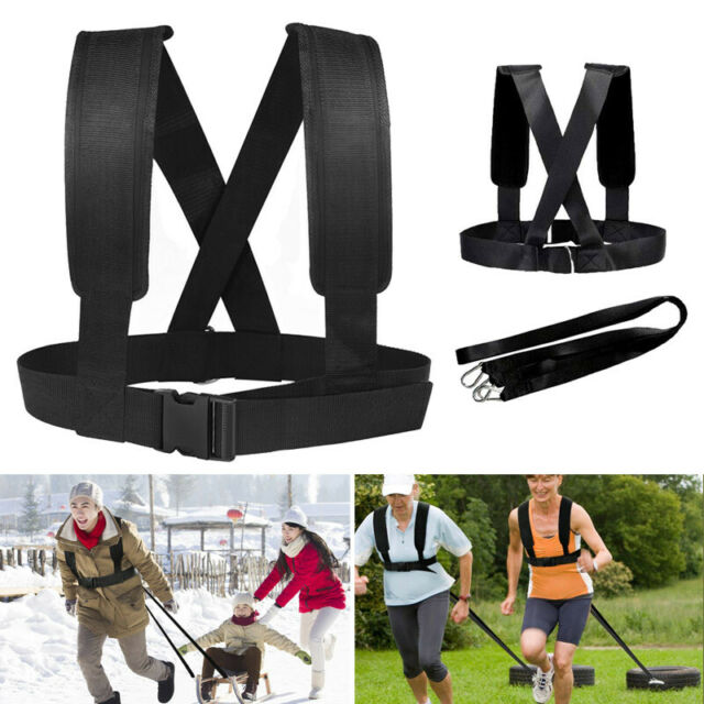 Adjustable Weight Sled Pulling Harness Resistance Band Speed Training Lead Belt