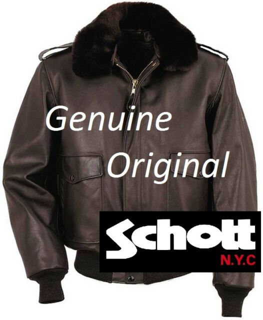 a074dcb102e SCHOTT N.y.c. A-2 Leather Flight Bomber Jacket Size US 52 Mod 184 ...