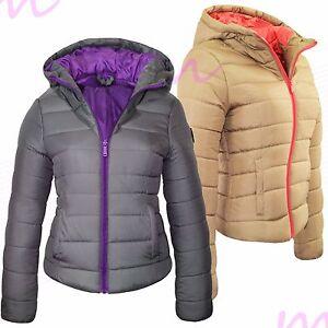 Femme matelassé manteau rembourré bulle capuche doublée chaud zip épais veste