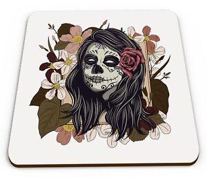 Lindo mexicano Día de los Muertos Azúcar Calavera Novedad Regalo Brillante Taza montaña rusa