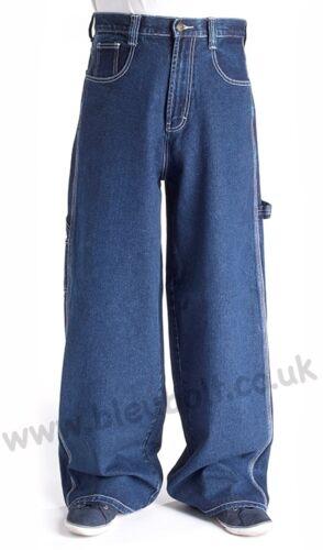 """Bleubolt Indigo Carpenter Skater Jeans 24/"""" hem Big Size Baggy Loose fit"""