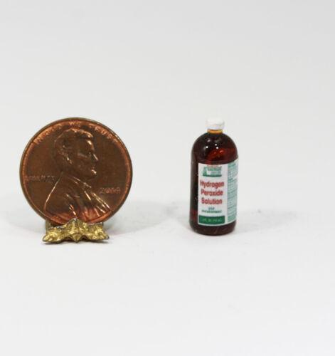 Dollhouse Miniature Bottle of Hydrogen Peroxide Solution