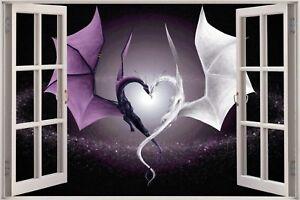 Huge-3D-Window-view-Fantasy-Dragon-Heart-Wall-Sticker-Decal-Wallpaper-687