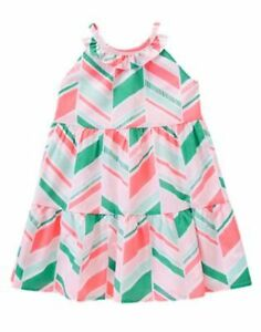 NWT Gymboree Girls Island Cruise Ruffled Geo Dress Size 4 5 6 7 10