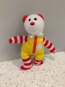 Image is loading Ronald-Mcdonald-the-Bear-TY-collectable-miniature-teddy- 7d250c77da2
