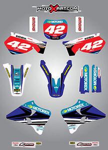 Yamaha YZ 125 / 250 - 1996 - 2001 Full custom graphics kit STRIKE style stickers
