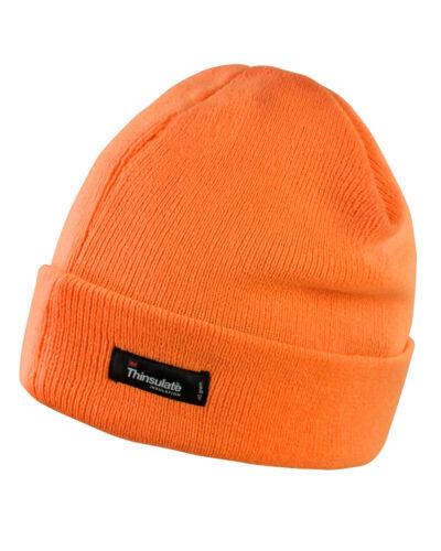 Résultat Hi Vis beanie hat high viz visibilité course laineux jaune orange Rc133x