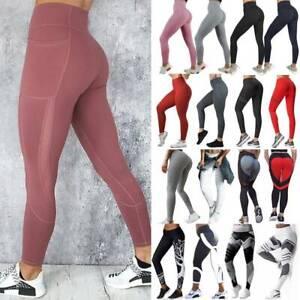 Women-YOGA-Workout-Gym-Sports-Pants-High-Waist-Leggings-Fitness-Stretch-Trousers