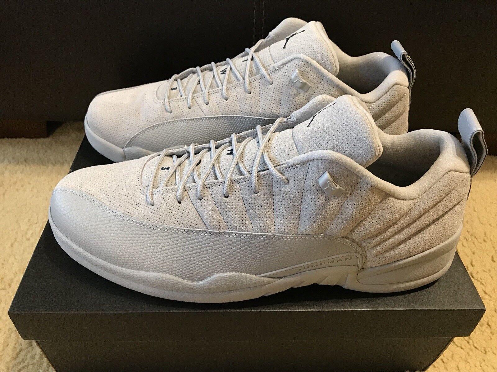 Nike Air Jordan 12 12 12 Retro Low Uomo sz 16 Wolf grigio Suede 308317 002 NIB 01e51b