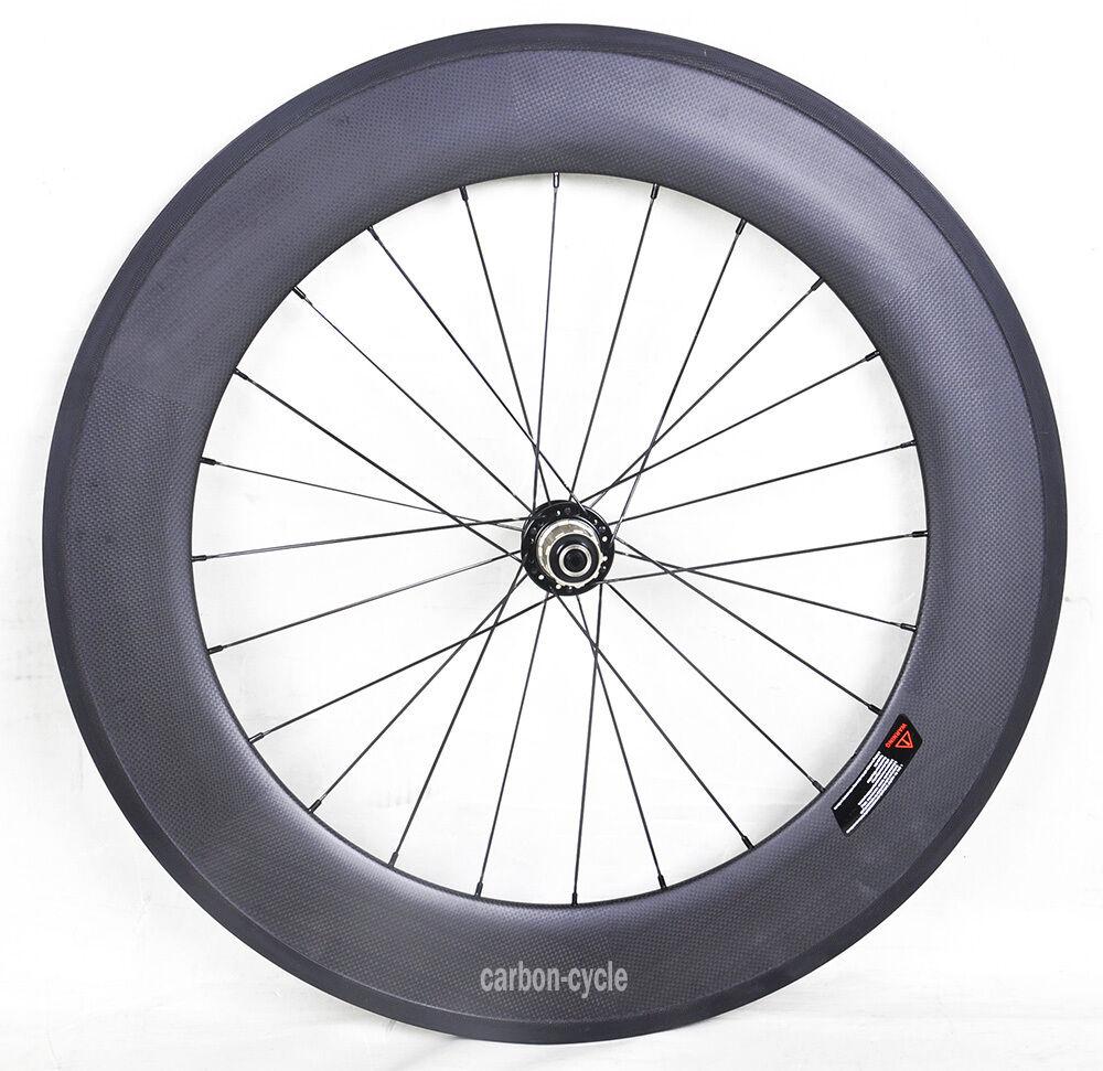 88mm Sapim spoke Carbon Rear Wheel Clincher Road Bike  700C Rim 23mm Rim 3k matt  get the latest