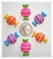 6pc Sweet Tweet Candy Shoppe Flat Back Flatback Resins 4 Hairbow Bow Center