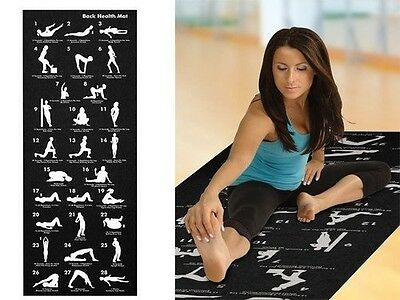 Yoga Exercise Fitness Workout Pilates Mat With 28 Best Yoga Positions Non Slip
