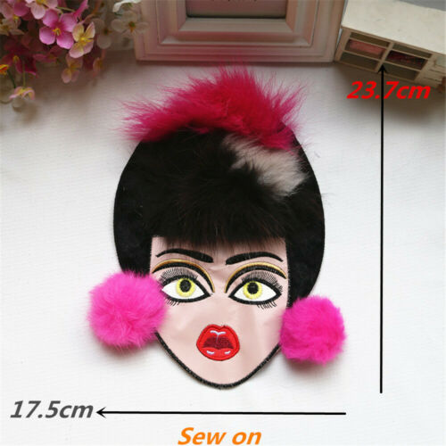 Sew on Clothing Patches Embroidery Sequins Face Cloth Badges Paste Patches DIY