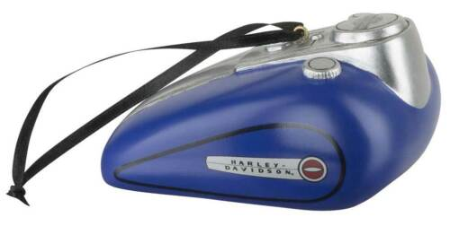 3.5 x 2 inches HDX-99163 Harley-Davidson Blue Gas Tank Polyresin Ornament