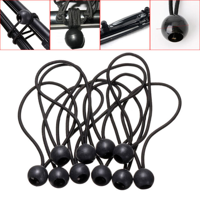 4 Ball Ends Flag Pole Clip Bungee Ties Cord Elastic Rope Attach Windsock
