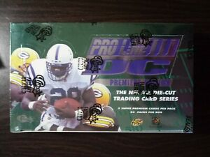 1996-Classic-Pro-Line-III-DC-Football-Box-24-Packs-Factory-Sealed-Very-Rare