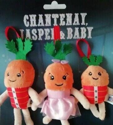 Kevin The Carrot Family Christmas Tree Decorations Plush Chantenay Jasper Baby