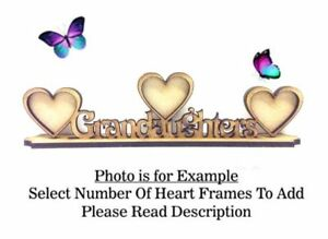 Mothers Day Gift PL54 NANNA Build Your Own Wooden MDF Photo Frame OPTIONS